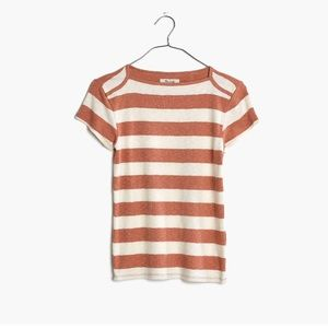 Madewell tee in rugby stripe